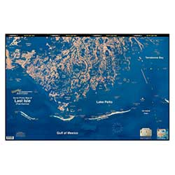 Cocodrie - Last Isle, Louisiana Laminated Map
