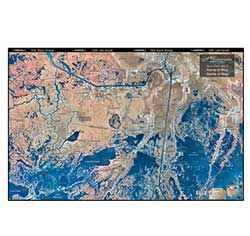 Bayou Dularge, Louisiana Laminated Map