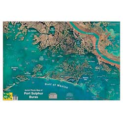 Port Sulfur/Buras, Louisiana Laminated Map