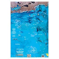 Florida Bay/Flamingo, Florida Laminated Map