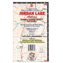 Jordan Lake, Alabama, Carto-Craft Waterproof Lake Map
