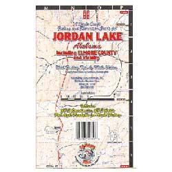 Kingfisher Maps Jordan Lake, Alabama, Carto-Craft Waterproof Lake Map
