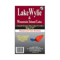 Lake Wylie & Mountain Island Waterproof Lake Map