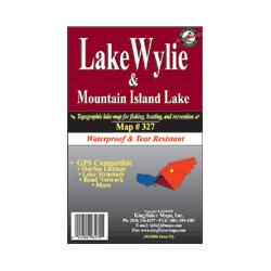 Kingfisher Maps Lake Wylie & Mountain Island Waterproof Lake Map