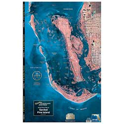 Sanibel - Pine Island, Florida Laminated Map