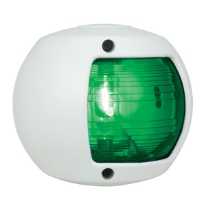 Green Side Light, White Housing