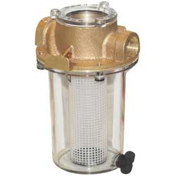 "3/4"" Strainer Plastic Basket, Bronze Castings, Clear Sight Glass"