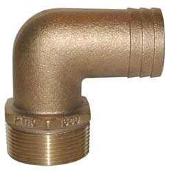 "PTHC, 90 Deg Standard Flow Bronze Fitting, 3"" Pipe, 3"" Hose"