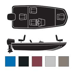 Aluminum Bass/Modified-V Boats, Outboard, Boaters Best Polyester Cover