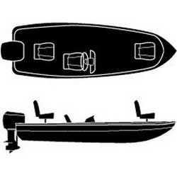 Boaters Best V-Hull Polyester Cover with Single Console, 16' 6""