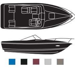 Cuddy Cabins Boaters Best Polyester Covers, Inboard/Outboard with Rails
