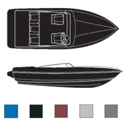 Euro-Style V-Hulls, Outboard Road Max Poly/Cotton Covers