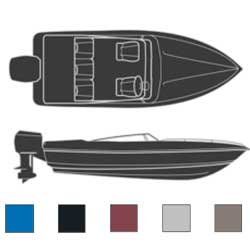 Euro-Style V-Hulls, Inboard/Outboard Boaters Best Polyester Covers