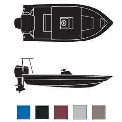 Flat Boats Boaters Best Polyester Covers