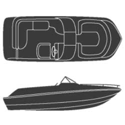 Deck Boat Covers with Walk-Through Windshield