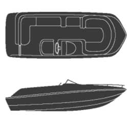 Polyester Deck Boat Covers with Side Console