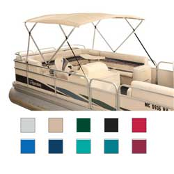 "Traditional Square Tube, 4-Bow Pontoon Bimini Top, 96""L, 88-96""W, 48""H, Fabric Only"