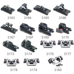 Harken Hi-Load Single End Controls (Pair), 1:1/2:1 Purchase, 2500lb. MWL, 6-7/16 Length