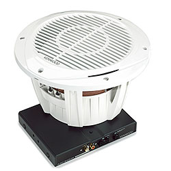 "Marine 10"" Subwoofer Mono Amp Package - White"