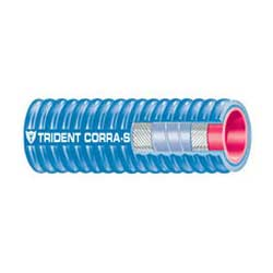 Trident Rubber Corrugated Silicone Marine Wet Exhaust Hose, Series 252V, 2-1/2 x 6'