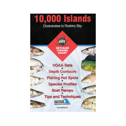 Fishing Hot Spots 10000 Islands, Chokoloskee to Rookery Bay, FL, Fishing Chart