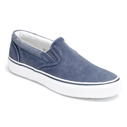 Men's CVO Canvas Striper Slip-Ons - Navy - 8