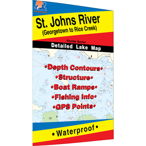 St. Johns River (Georgetown to Rice Creek) Fishing Map