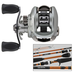 Laguna Baitcaster Reel with Aird Rod Combo