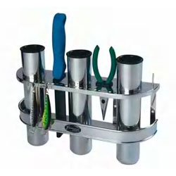 Stainless Steel Triple Rod Holder and Organizer