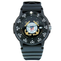 U.S. Coast Guard Waterproof Watch with Dive Band