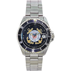 U.S. Coast Guard Waterproof Watch with Stainless-Steel Band