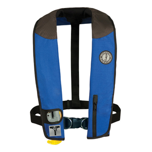 Deluxe Automatic Inflatable Life Jacket with Harness, Royal/Carbon/Black