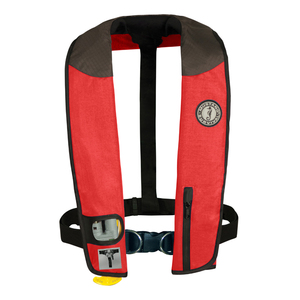 Deluxe Automatic Inflatable Life Jacket with Harness, Red/Carbon/Black