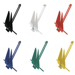 Color Coated Slip-Ring Fluke Anchors