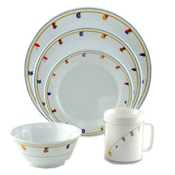 Galleyware Flags Dinnerware