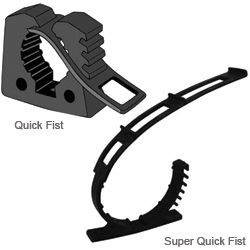 Davis Instruments Quick Fist Clamp, Holds Tube dia. 1/2 to 2 1/2, 22lb. SWL, 7/8 x 2-3/4 Base Dimensions