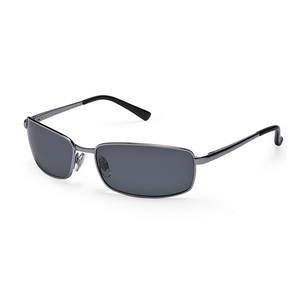 Neptune Polarized Sunglasses, Shiny Gunmetal Frames, Dark Gray Lenses
