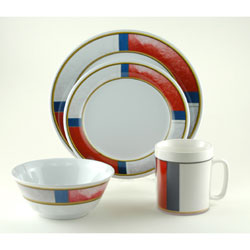 Life Preserver 16 Piece Dinnerware Set