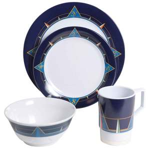 Blue Compass 16 Piece Dinnerware Set