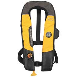 Hydrostatic Inflatable Life Vest without Harness