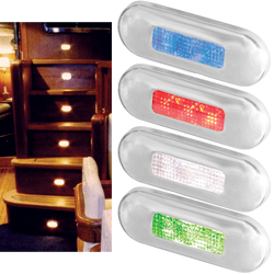 LED Step Lamp with Polished 316 Stainless-Steel Rim