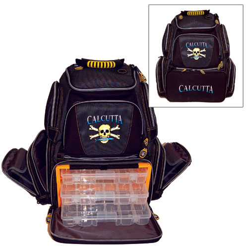 Calcutta framed tackle backpack west marine for Fishing tackle box backpack