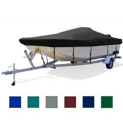 "Center Console Bay Boat Cover, OB, Navy Blue, Hot Shot, 20'5""-21'5"", 96"" Beam"