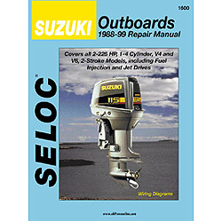Seloc Marine Repair Manual - Suzuki Outboards, All 2 Strokes 1988 - 2003