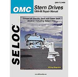 Seloc Marine Repair Manual - OMC Stern Drive, 1964-1986, 4Cyl., V4, V6, All HP Sale $37.99 SKU: 4598744 ID# 3400 UPC# 715568000477 :