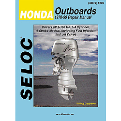 Seloc Marine Repair Manual - Honda Outboards, 1978-2001, All models, 2-130HP Sale $37.99 SKU: 4633483 ID# 1200 UPC# 715568012005 :