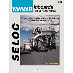 Seloc Marine Repair Manual - Yanmar Inboard, 1975-1998, QM, GM, HM, JH, JH2 models, All HP Sale $14.66 SKU: 4633509 ID# 7400 UPC# 715568074003 :