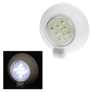 8-LED White Dome Light, OFF/ON Switch Positions