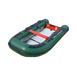 "AL-390 Heavy Duty Inflatable Sportboat—Green PVC ""Sportsman"""