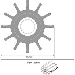 Johnson Water Pump Impeller 09-820B